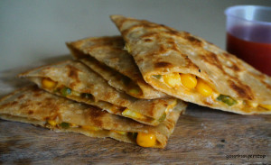 Corn Capsicum Cheese Paratha