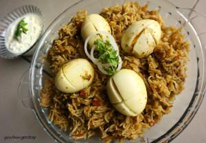Egg Biryani (Pressure Cooker)
