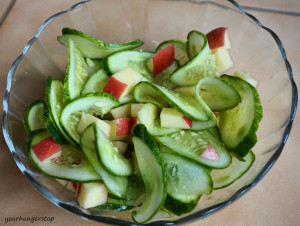 Cucumber Apple Salad with Vinegar-Honey dressing