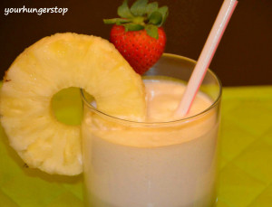 Virgin Pina Colada or Pina Colada Mocktail