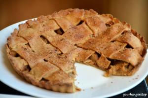 Eggless Apple Pie (Whole Wheat Crust)