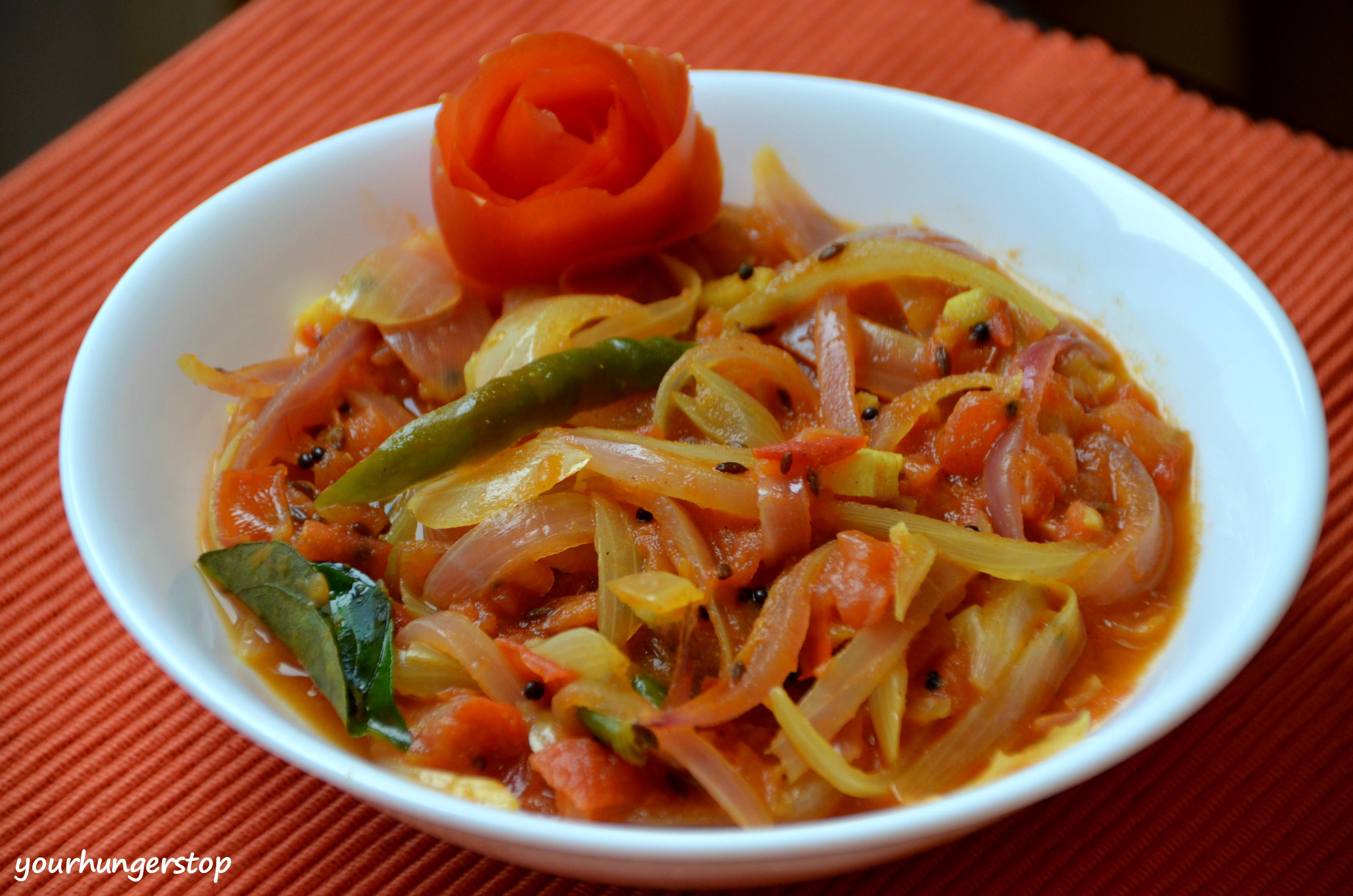 Tomato Bhaji Pyaz Tamatar Ki Sabzi Yourhungerstop