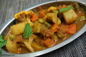 Mix Veg Korma (with Pudina)