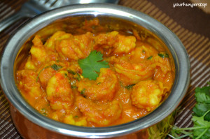 Prawns Curry (Without Coconut)