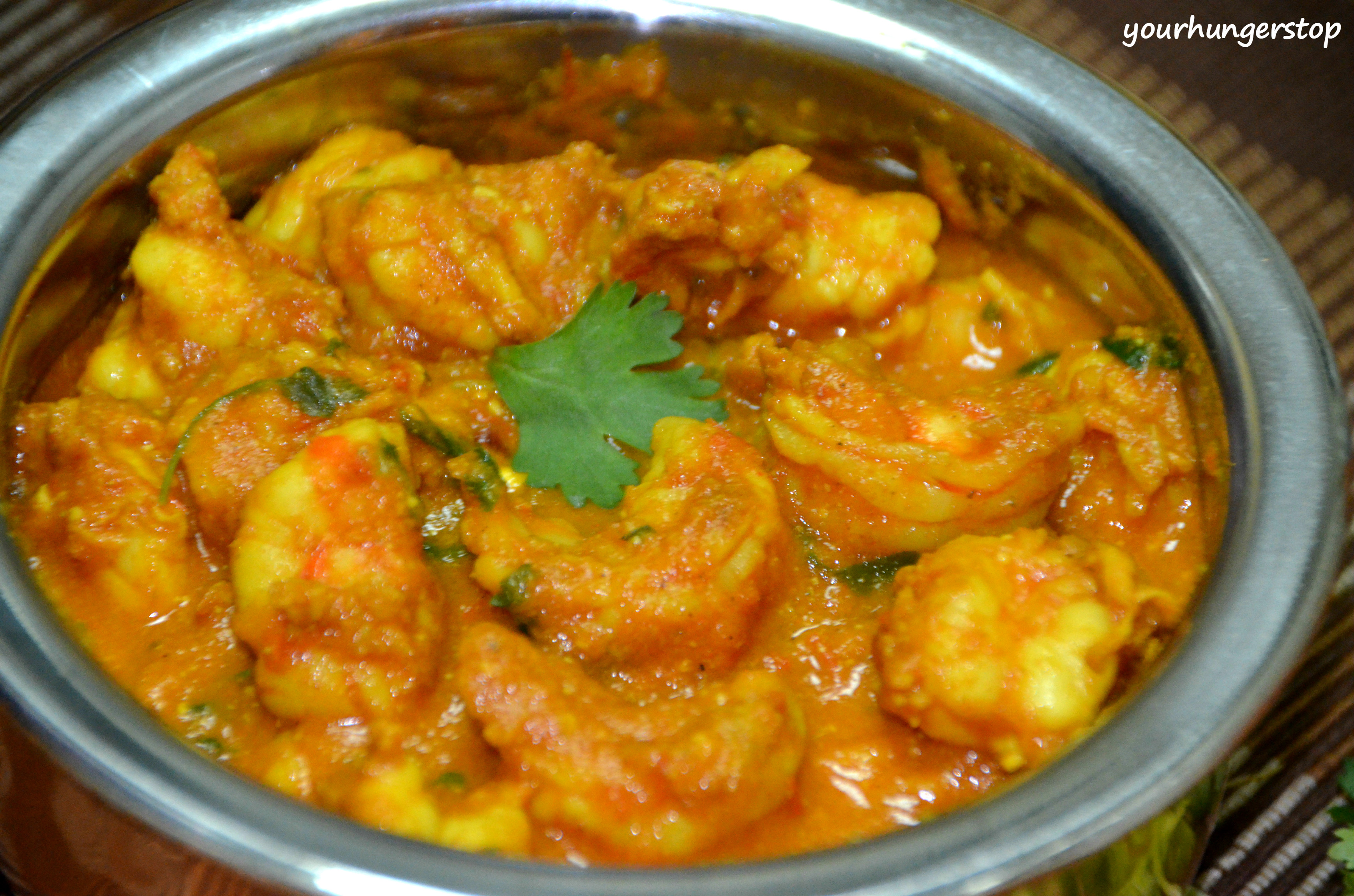 Prawns Curry Without Coconut