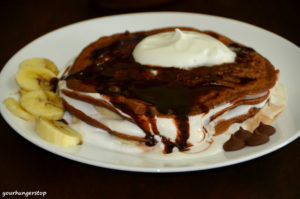 Whole Wheat Chocolate Pancakes