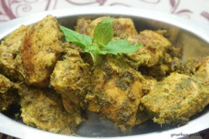 Pudina Chicken or Mint Chicken